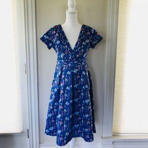 Vintage Inspired Print Lindy Bop Dress